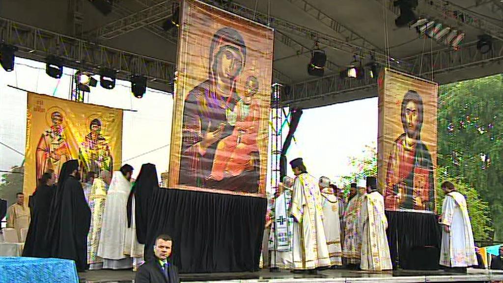 Pravoslavná liturgie v Mikulčicích