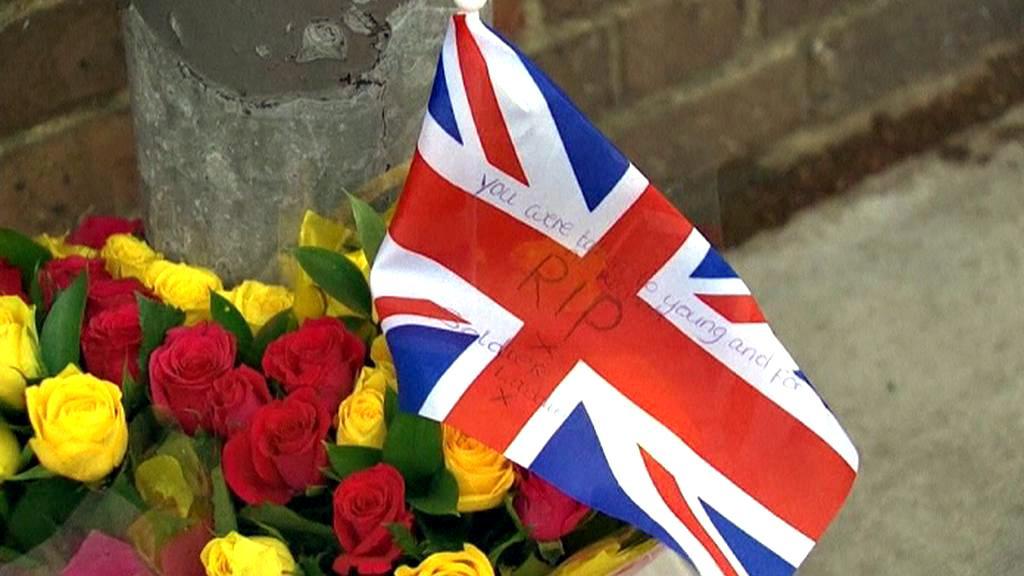 Pieta za britského vojáka ve Woolwichi