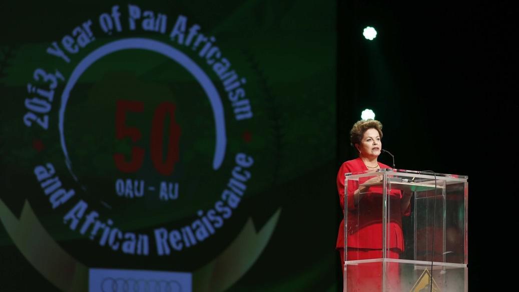 Brazilská prezidentka Dilma Vana Rousseffová na summitu