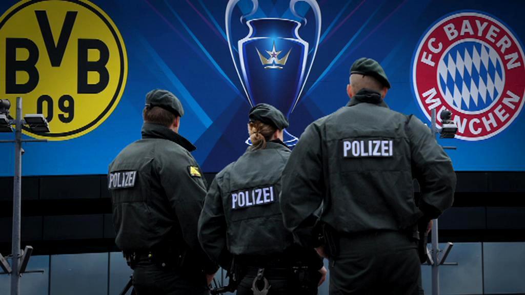 Policie před finálovým zápasem Ligy mistrů