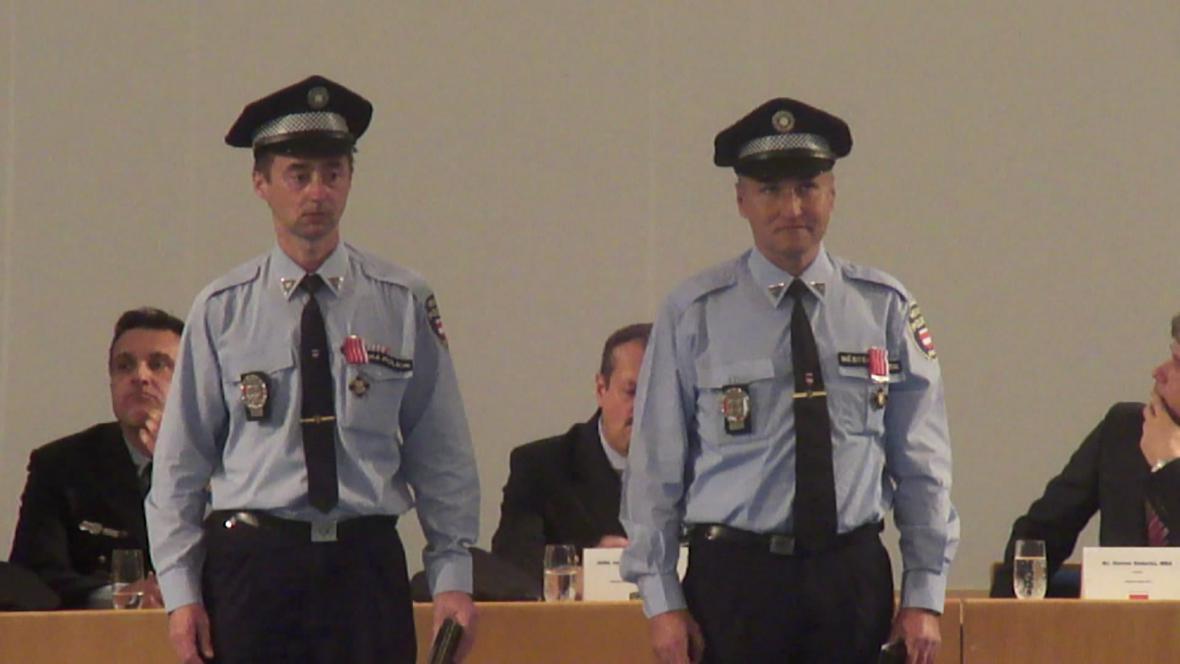 Vyznamenání městských strážníků v Brně