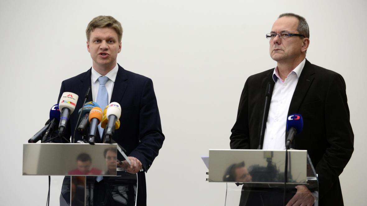Tomáš Hudeček (TOP 09) a Jiří Vávra (TOP 09)