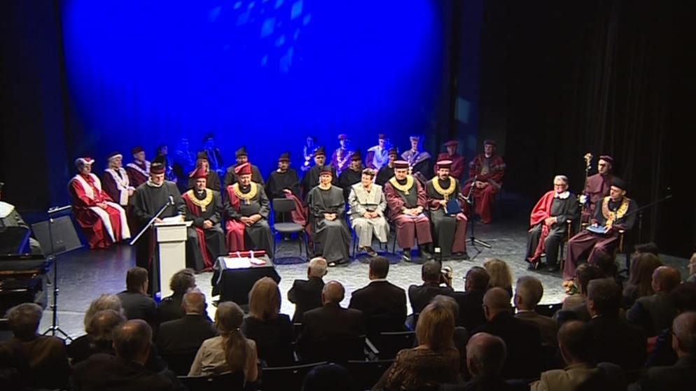 Slavnostní ceremoniál v Divadle na Orlí