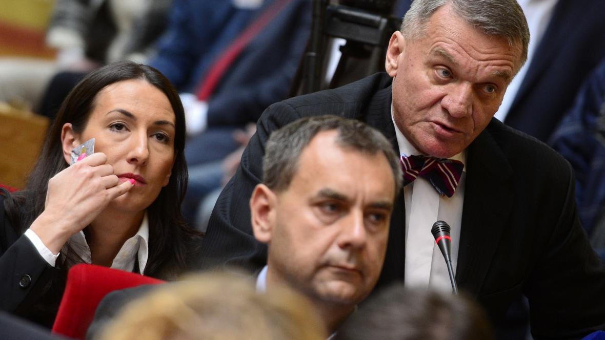 Aleksandra Udženija, Josef Nosek a Bohuslav Svoboda (všichni ODS)