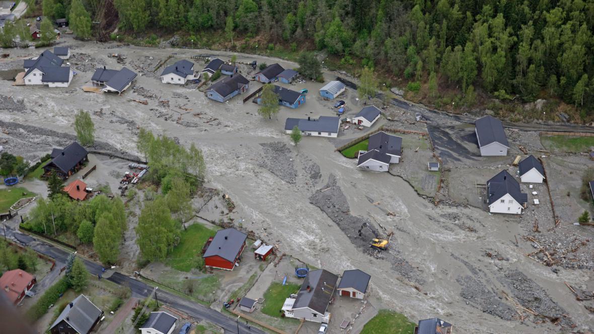 Záplavy v Norsku