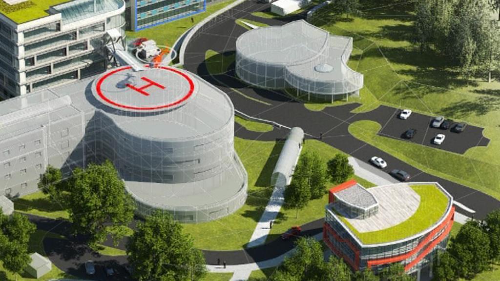 Maketa přestavby náchodské nemocnice