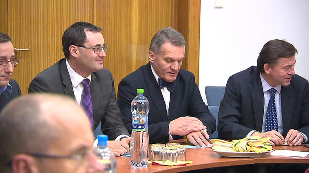 Pražský primátor Bohuslav Svoboda s Borisem Šťastným