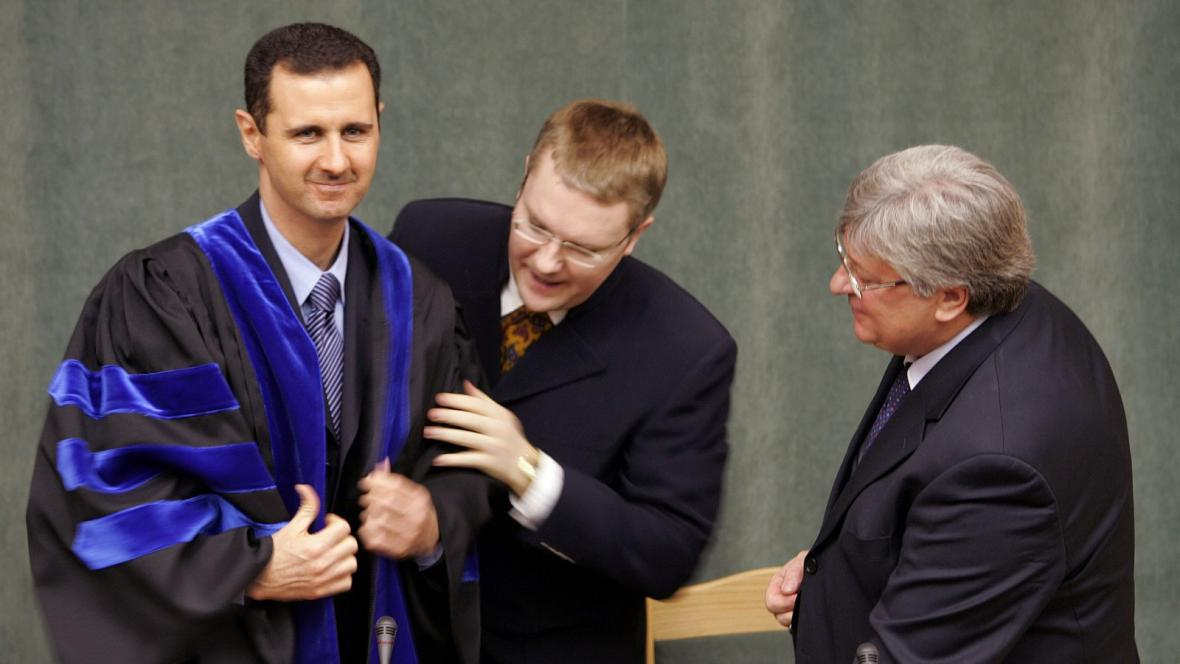 Syrský prezident Asad na návštěvě Moskvy v roce 2005