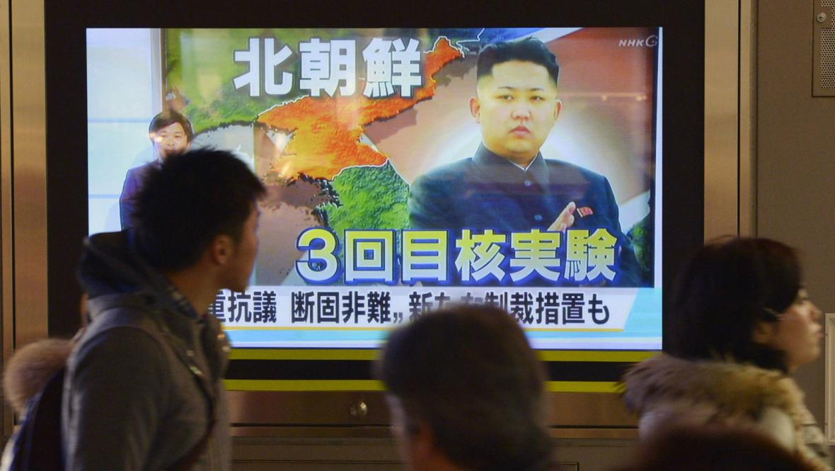 Japonská média informují o jaderném testu