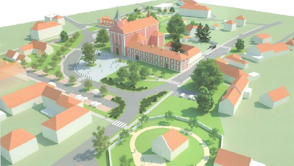 Vizualizace Mariánského náměstí ve Štípě