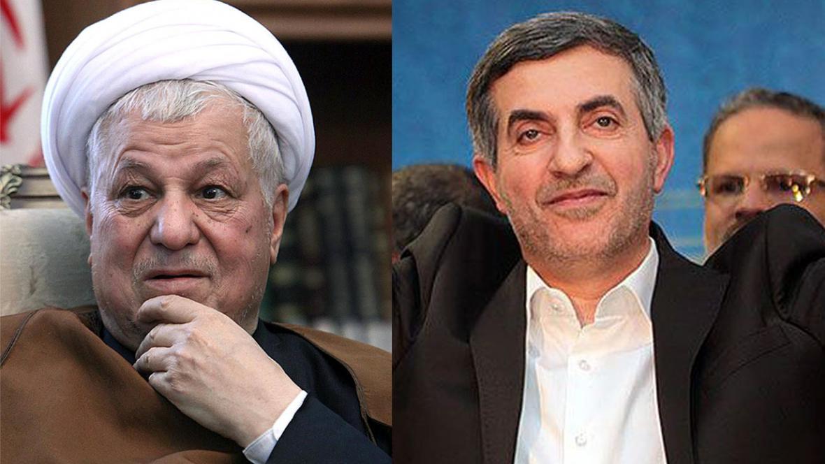 Akbar Hášemí Rafsandžání (vlevo) a Esfandjár Rahím Mašáí