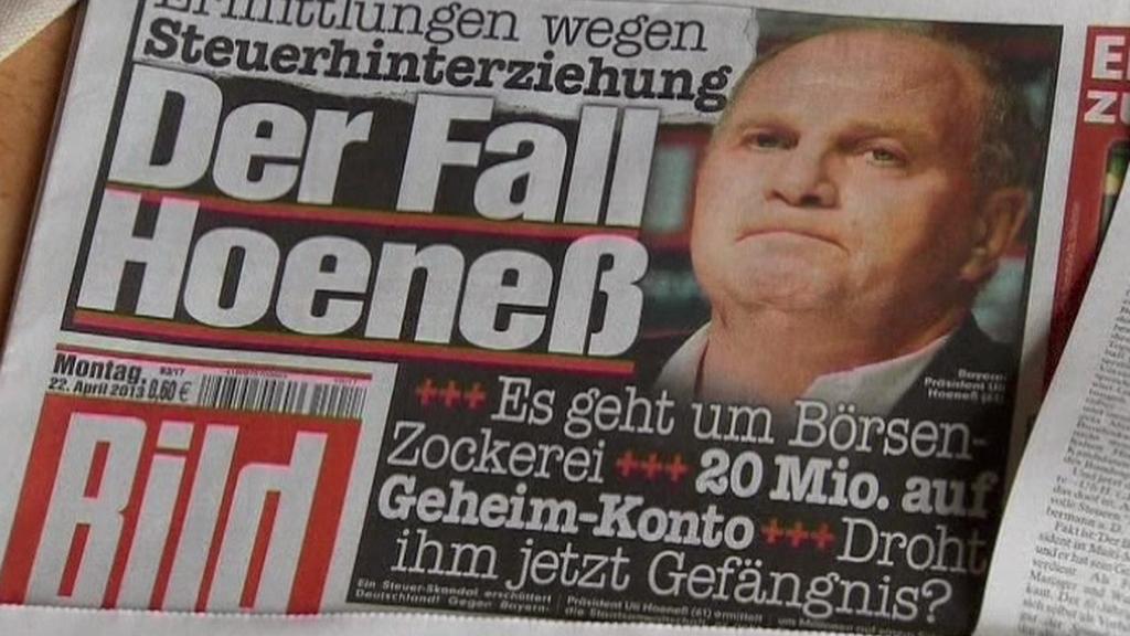Případ Ulliho Hoenesse v německém tisku