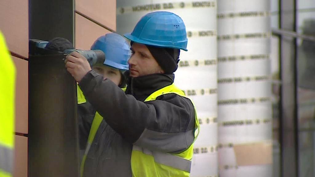 Práce na brněnské výškové budově