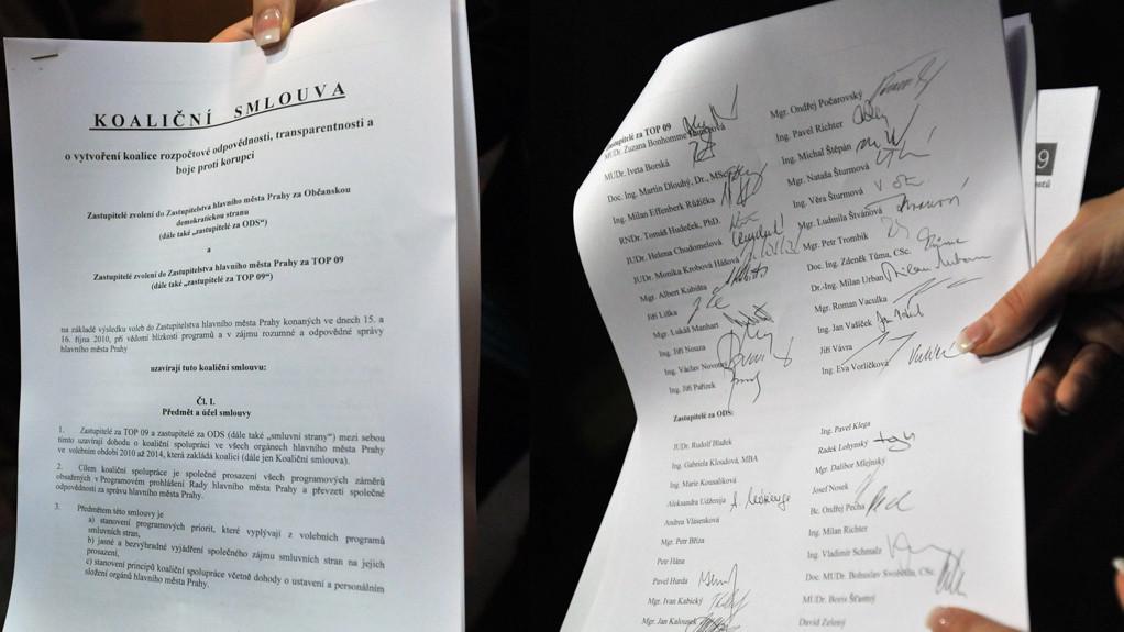 Koaliční smlouva ODS a TOP 09 v Praze