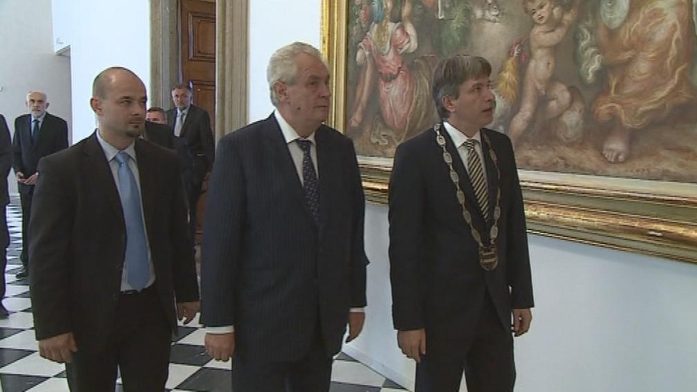 Miloš Zeman se v Brně zajímal o městský rozpočet
