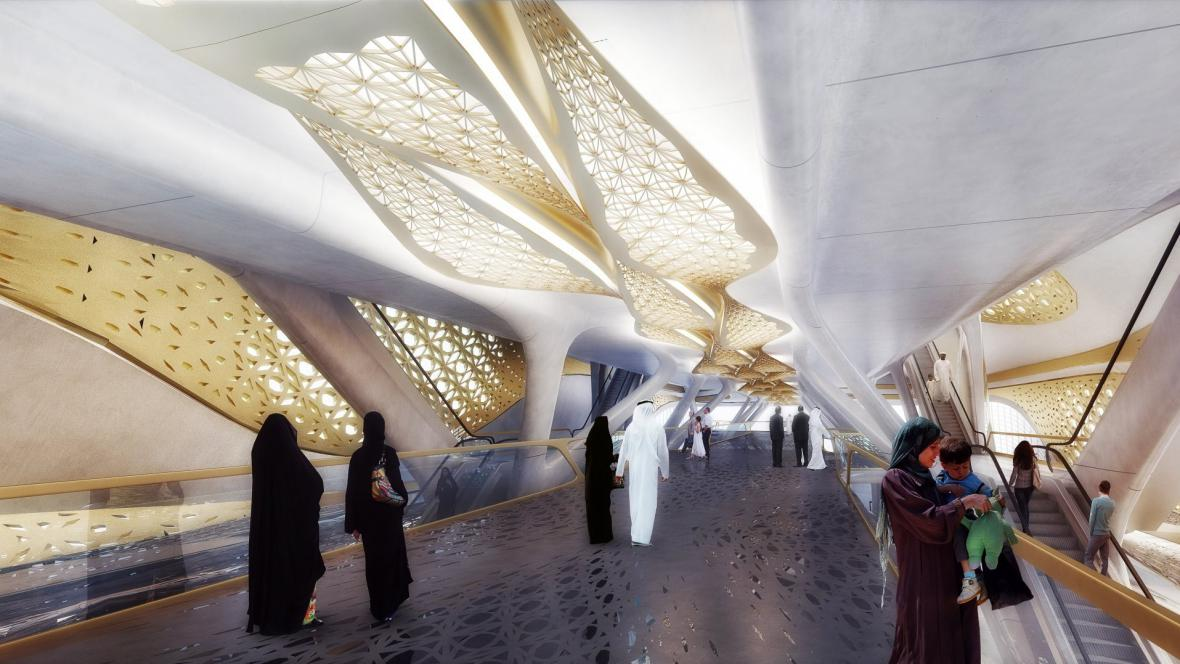 Rijádské metro od Zahy Hadid