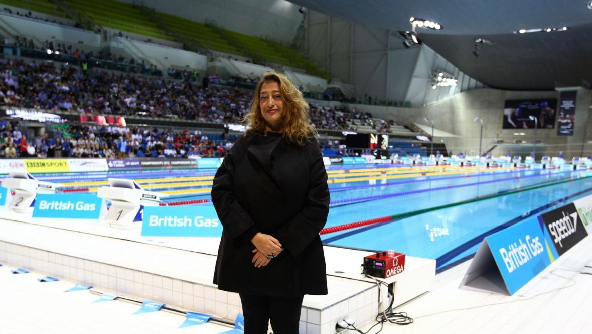 Zaha Hadid a její plavecký stadion v Londýně