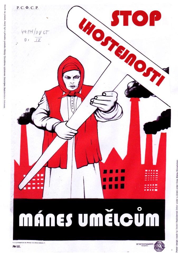 Plakát Jiřího Černického pro Mánes umělcům