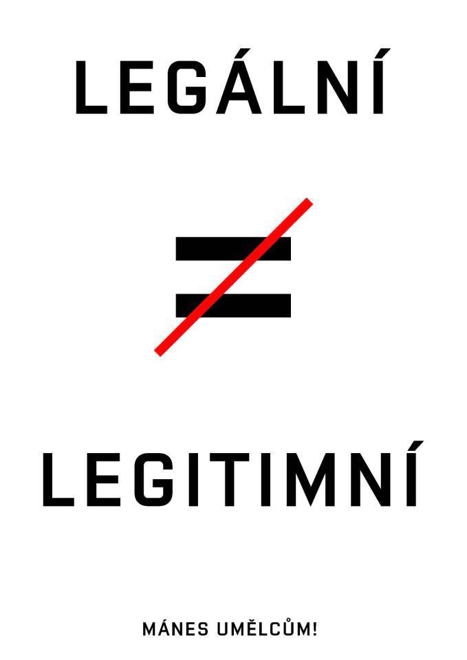 Plakát Tomáše Svobody pro Mánes umělcům