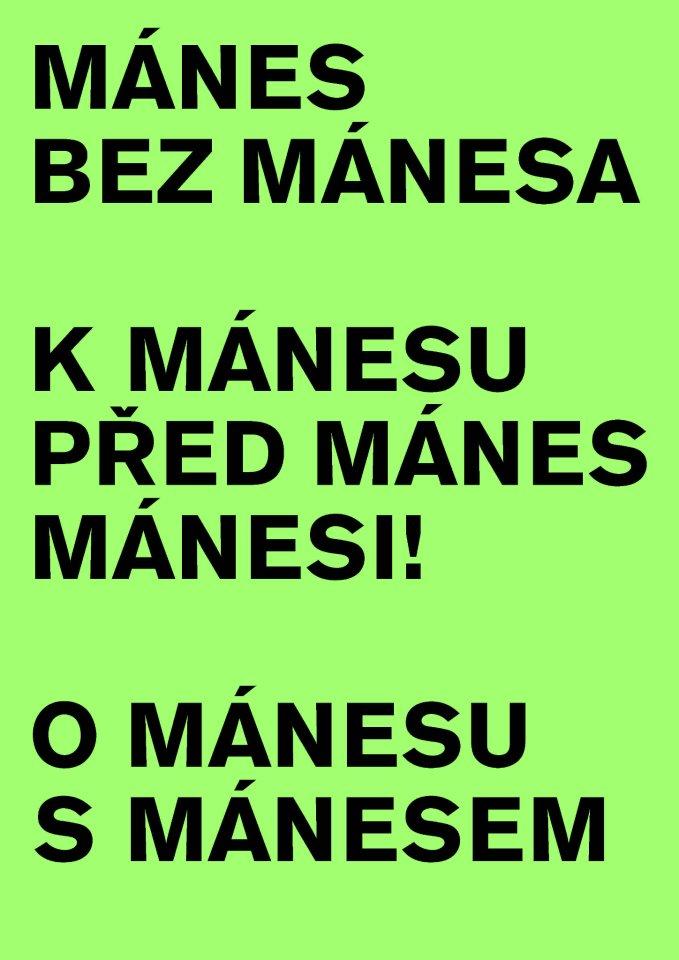 Plakát Terezy Hejmové pro Mánes umělcům