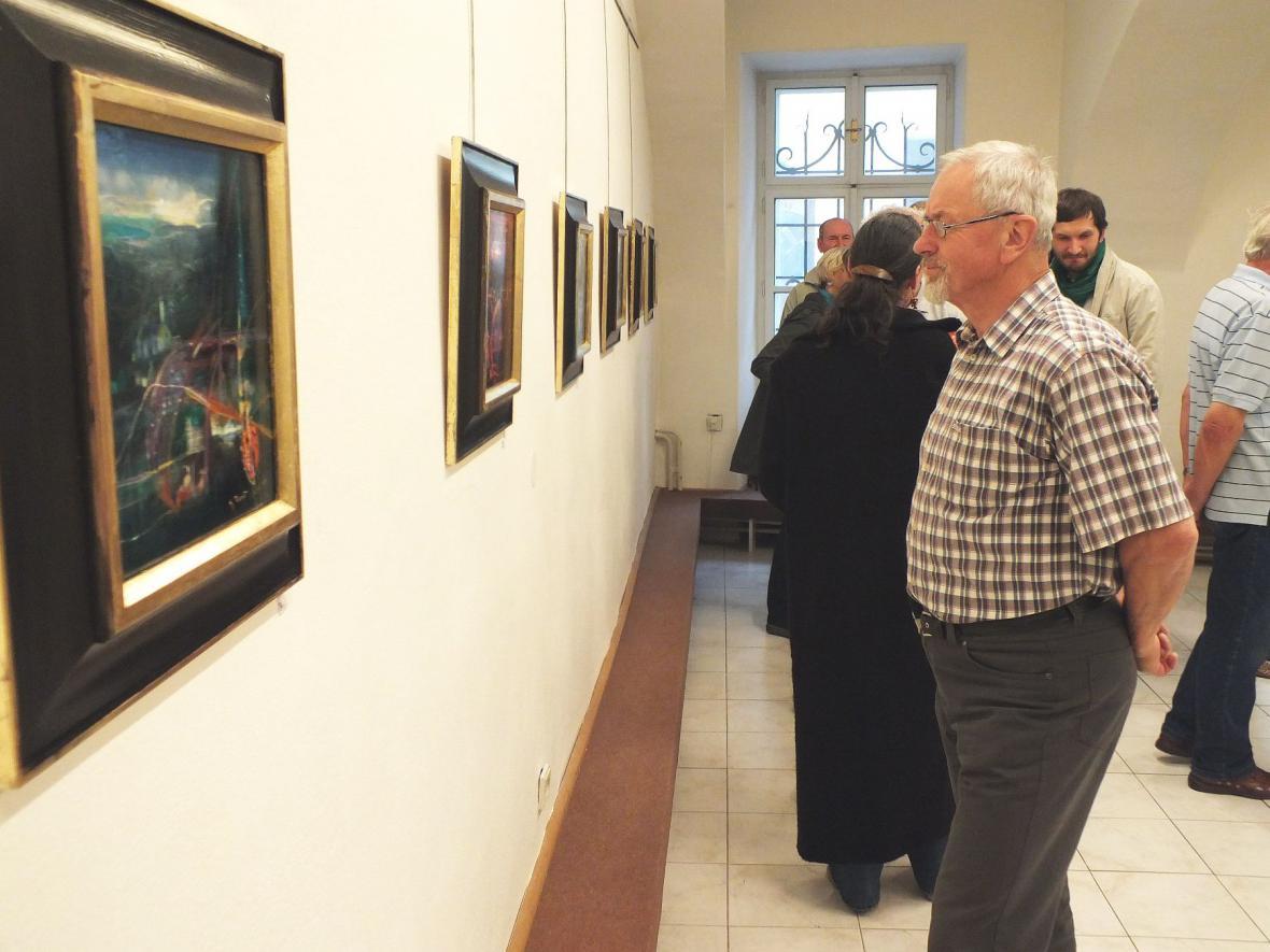 Z vernisáže v Galerii Otakara Kubína v Boskovicích