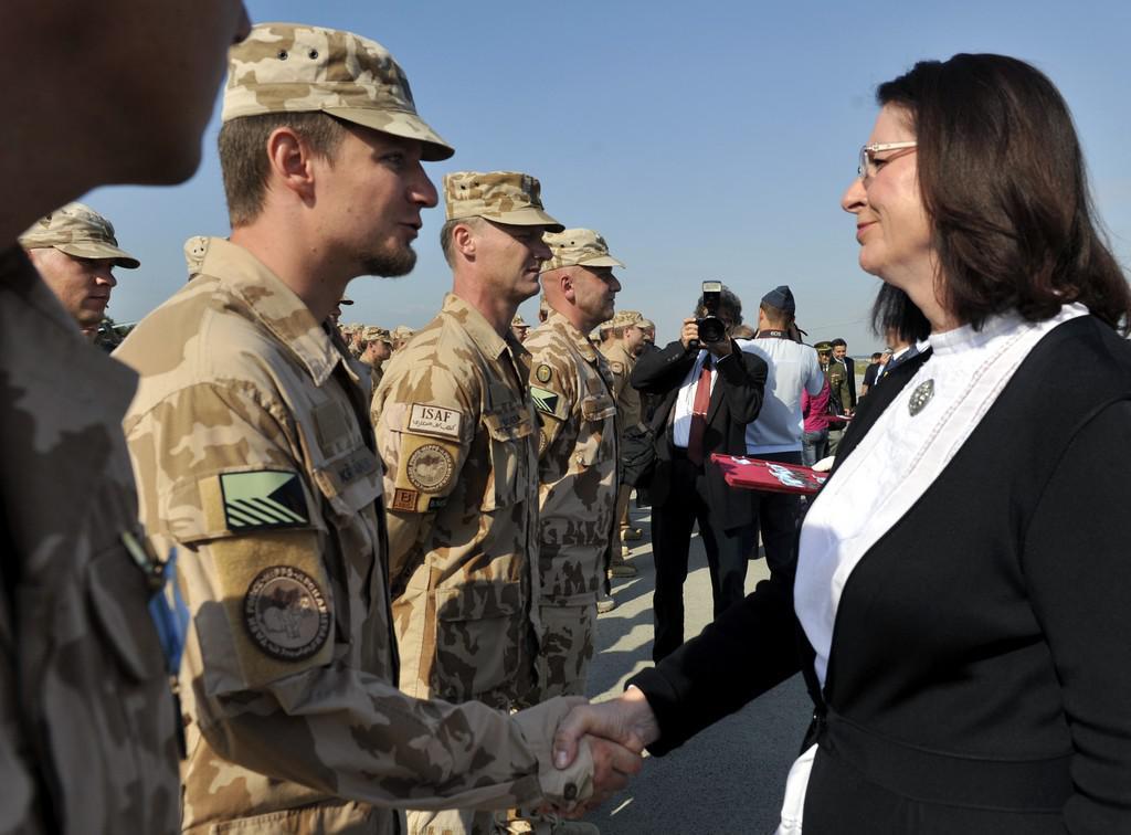 Přivítání vojáků