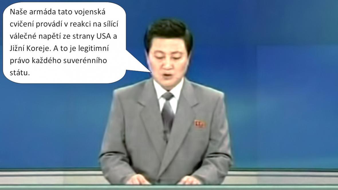 Korejská televize k odpalování raket krátkého doletu