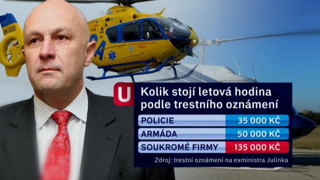 Ceny provozu letecké záchranky podle trestního oznámení