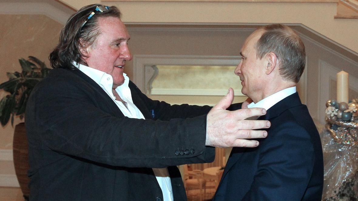 Gérard Depardieu a Vladimir Putin