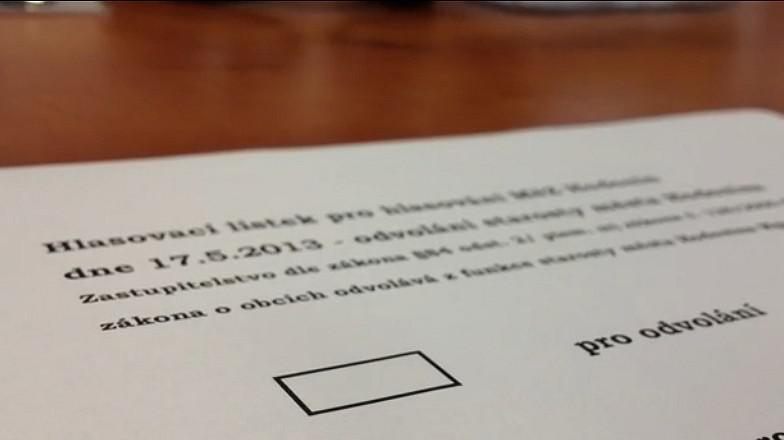 Hlasování o odvolání starosty Hodonína