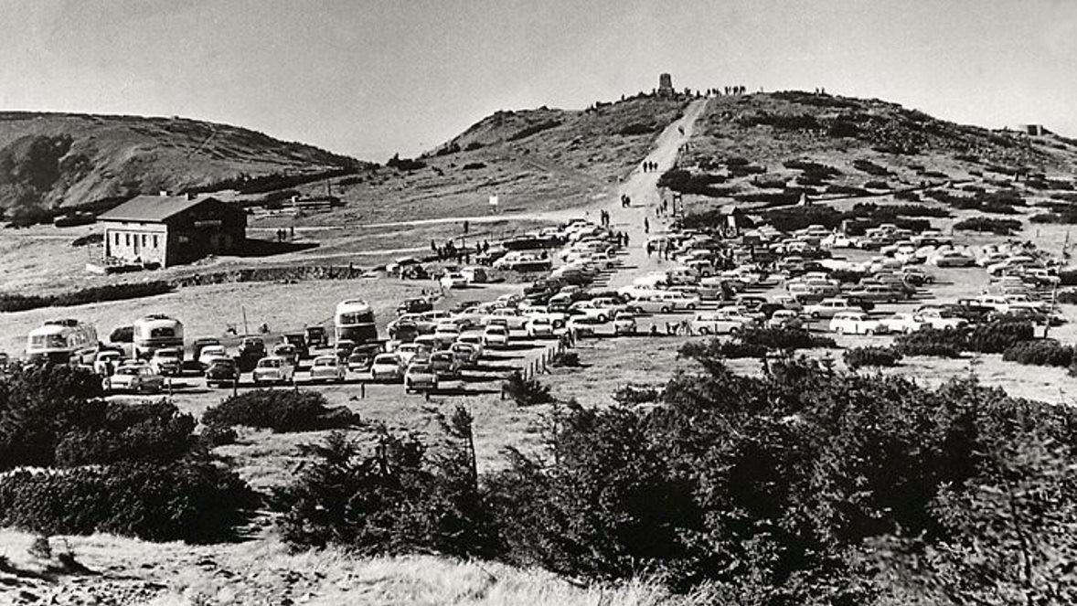 Obrázek provozu na Zlatém návrší do roku 1974
