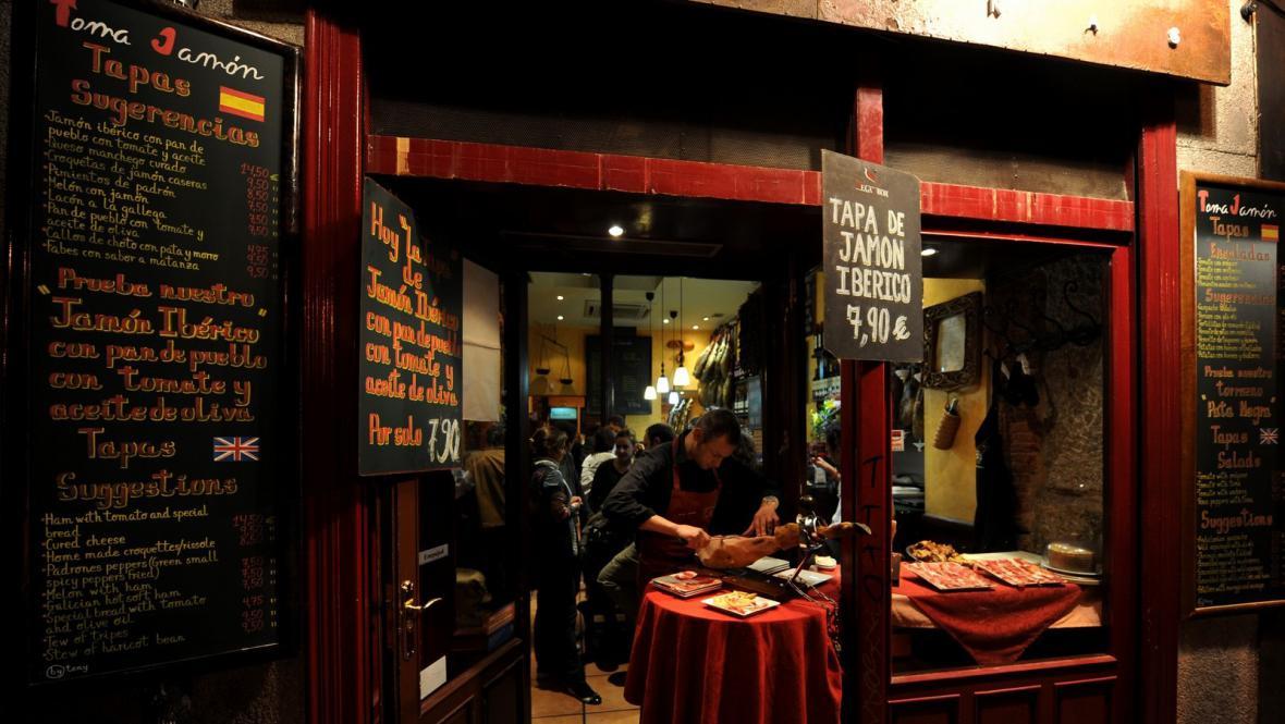 Tapas bar v Madridu