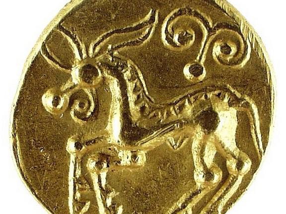 Keltská zlatá mince