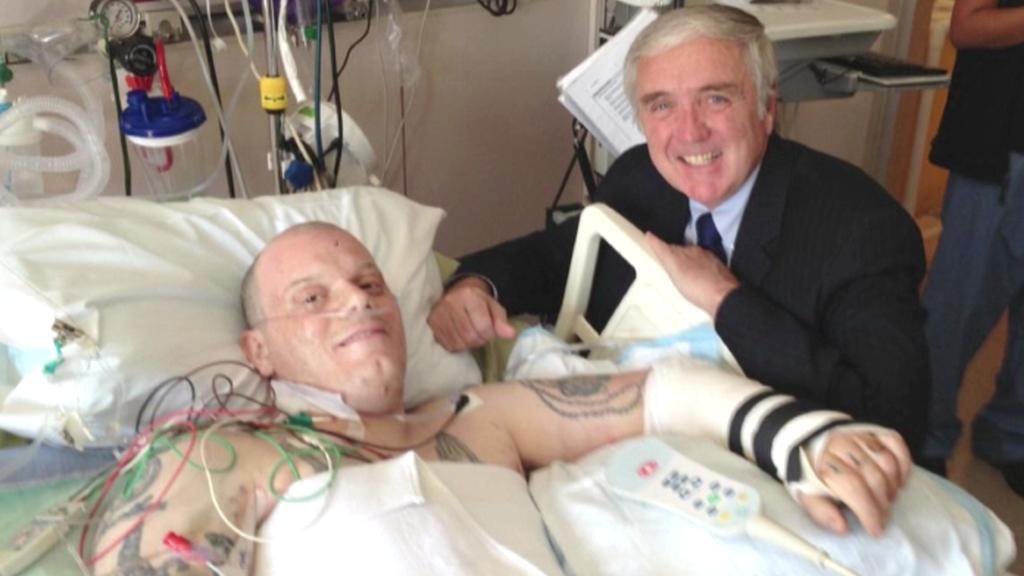 Paul Norden po atentátu v Bostonu
