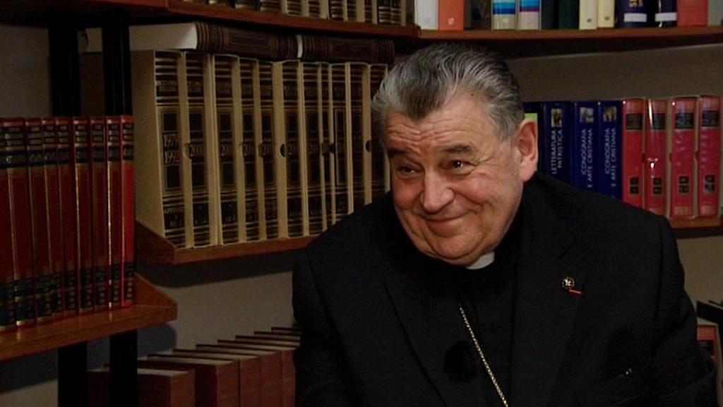 Kardinál Duka při rozhovoru pro ČT