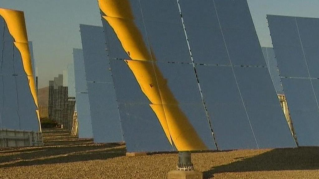 Zrcadla nové solární elektrárny