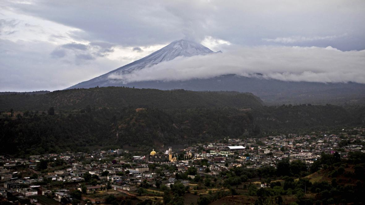 Popocatépetl a Santiago Xalitzintla
