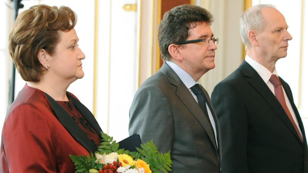 Milada Tomková, Jaroslav Fenyk a Jan Filip