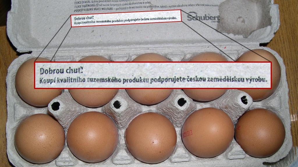 Domácí vejce z Polska?