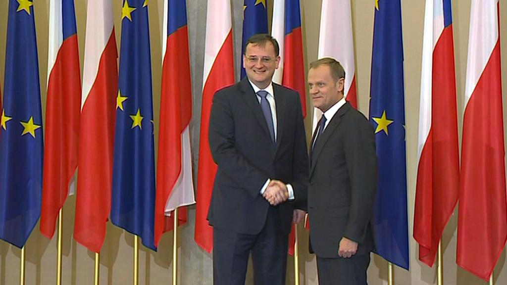Petr Nečas a Donald Tusk