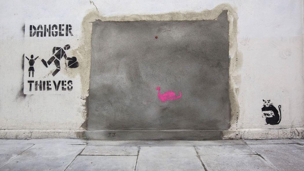 Původní místo Banksyho Slave Labour