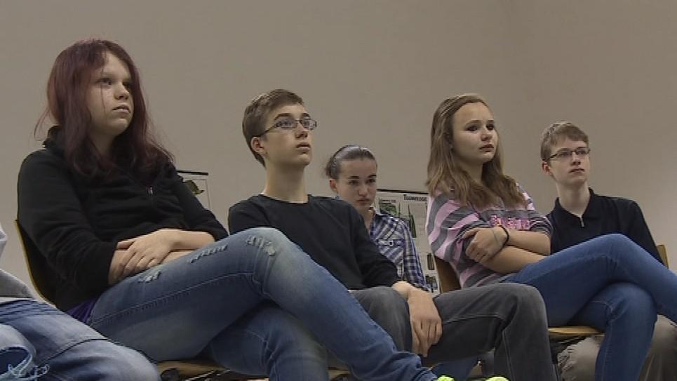 Žáci si vyslechli pokyny k tomu, jak testy vyplňovat