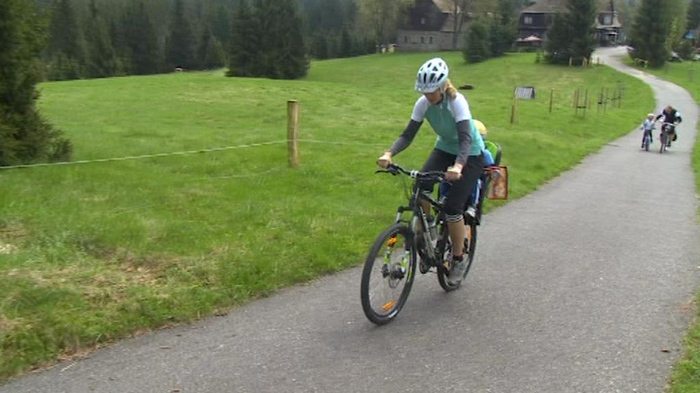 Cyklisté na trase