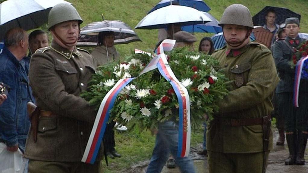 Vzpomínkový akt u Památníku spojeneckého vítězství