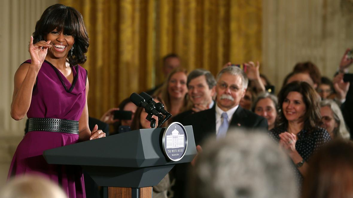 Michelle Obamová při předávání medaile