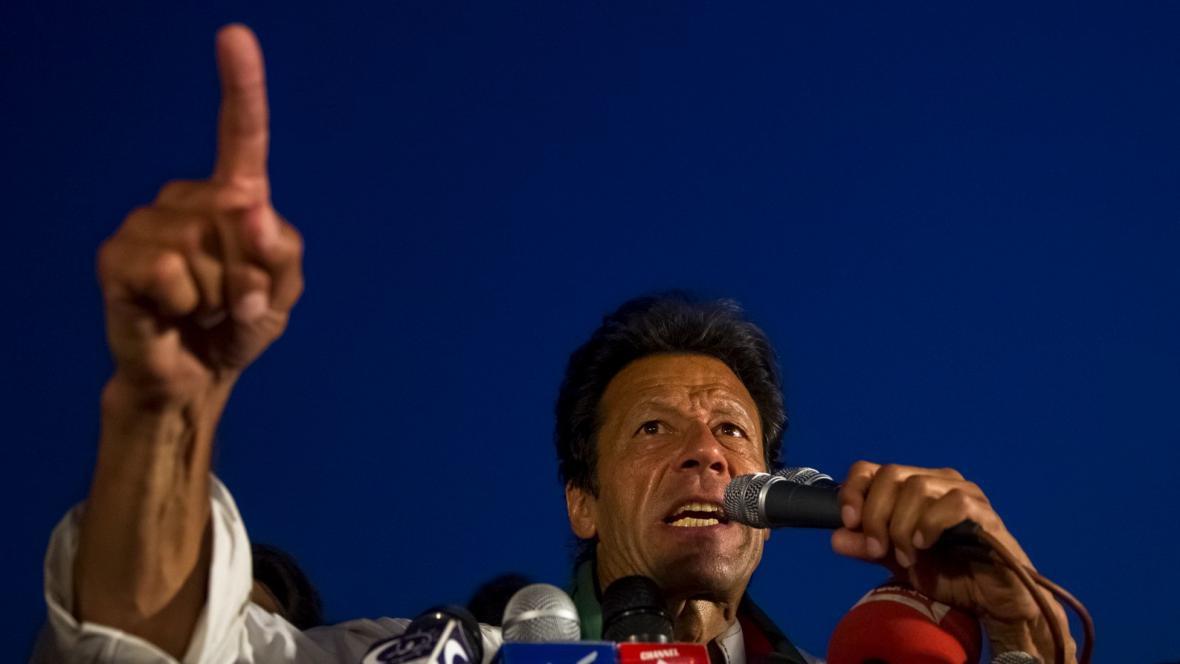 Pákistánský politik Imran Chán