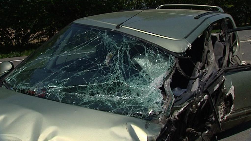 Osobní automobil po nehodě