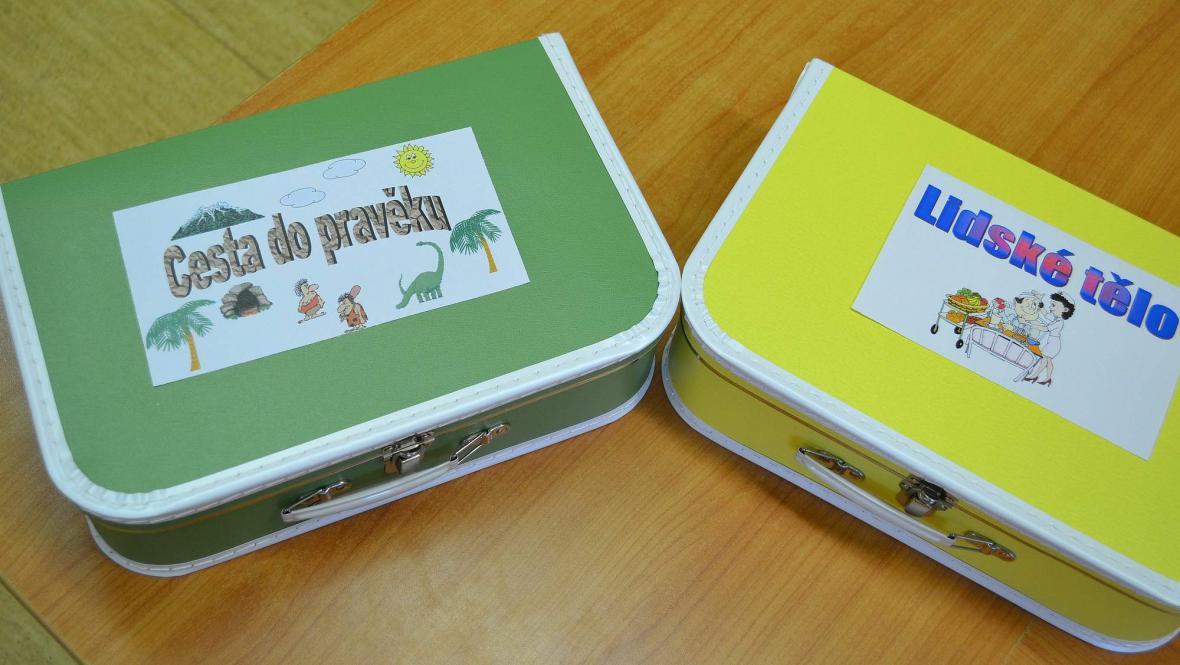 Kufříky v boskovické knihovně