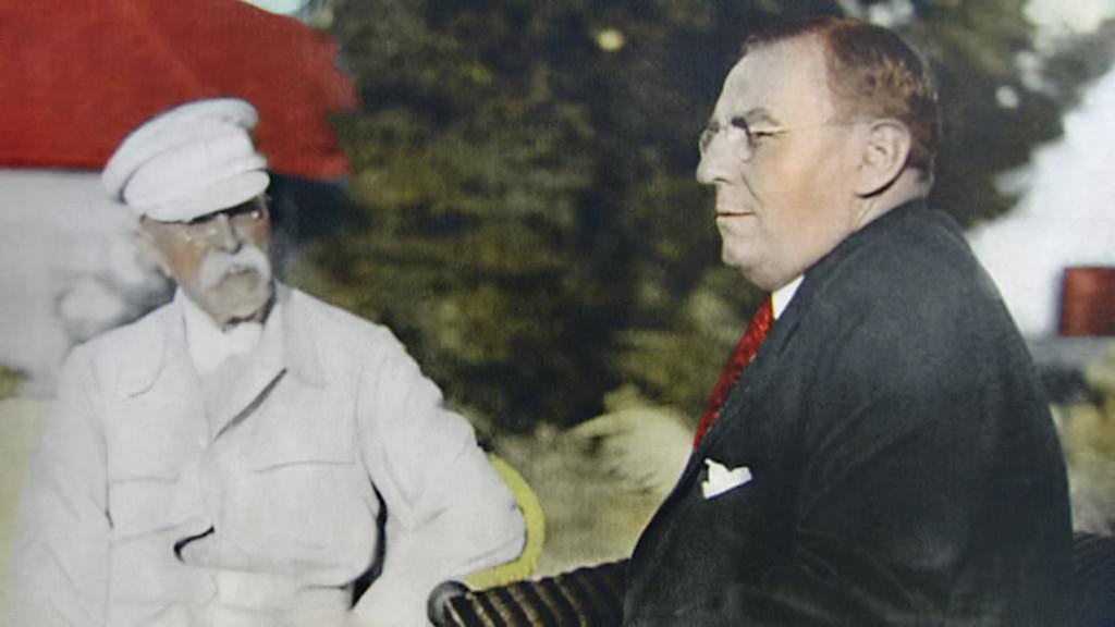 Tomáš Garrigue Masaryk a Antonín Čermák