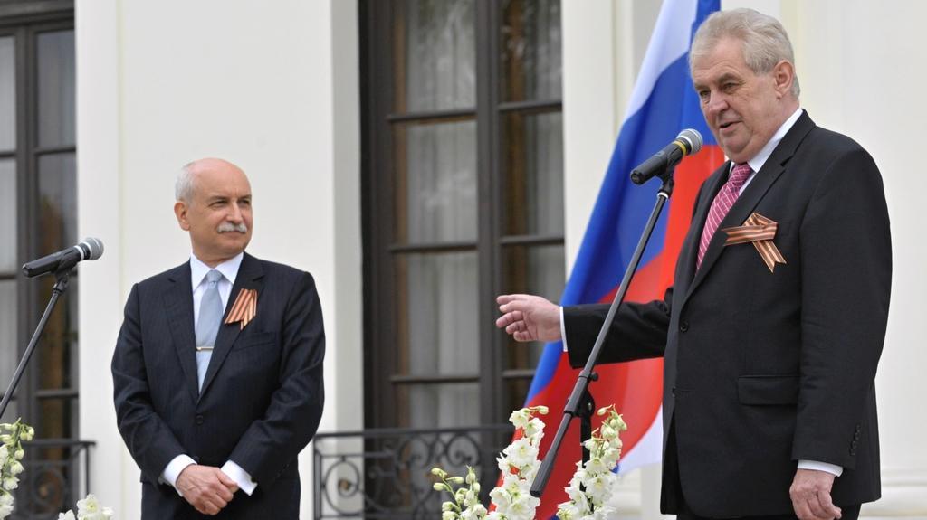 Recepce na ruském velvyslanectví